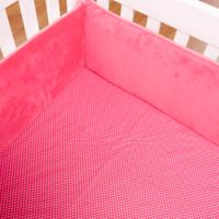 One Grace Place Simplicity Polka Dots Fitted Crib Sheet in Hot Pink