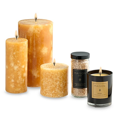 Maison Amber 2 3/4-Inch x 6 1/2-Inch Pillar Candle