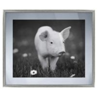 Playful Piglet Framed Graphic Wall Art