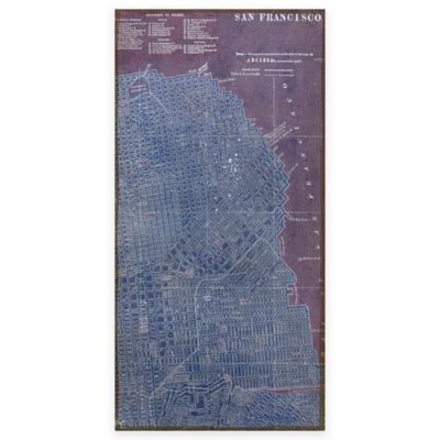 Map Of San Francisco Antique Wall Art