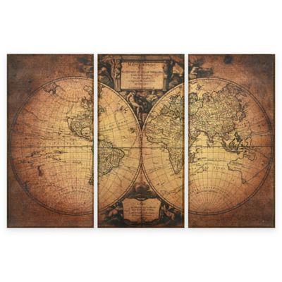 empire art fresco antique map of the world