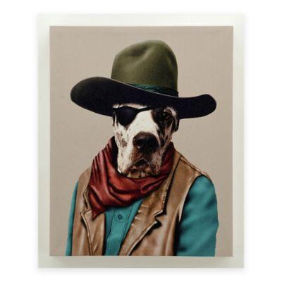 Pets Rock Cowboy Portrait Wall Art