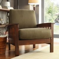 Verona Home Brixton Mission Arm Chair in Olive
