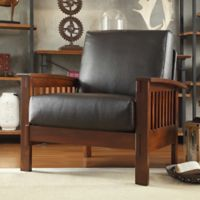 Verona Home Brixton Mission Arm Chair in Brown