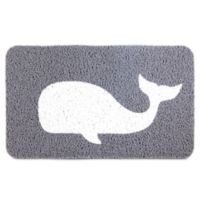 Kikkerland© 24-Inch x 36-Inch Whale Door Mat in Grey