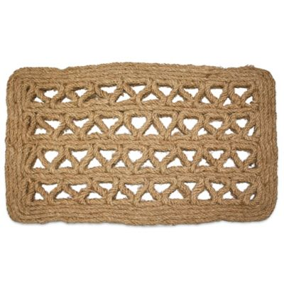 Chain Rectangle Handmade 30 Inch X 18 Inch Woven Coco Coir Doormat