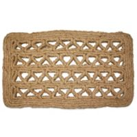 Chain Rectangle Handmade 30-Inch x 18-Inch Woven Coco Coir Doormat