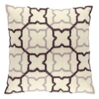 Mina Victory Lifestyles Square Charcoal Stars Throw Pillow