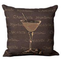 "Mina Victory Lifestyles ""Chocolate Martini"" 20-Inch Square Throw Pillow"