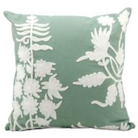 Mina Victory Lifestyles Square Ivory Embroidery Throw Pillow in Lily