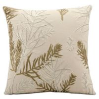 Mina Victory Luminescence Feather Branch 16-Inch Square Throw Pillow