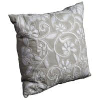 Mina Victory Luminescence Flowers 20-Inch Square Throw Pillow in Light Green