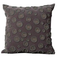 Mina Victory Luminescence Beaded Circles 20-Inch Square Throw Pillow in Charcoal
