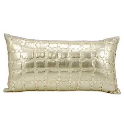 Mina Victory Luminescence Throw Pillow In Light Gold