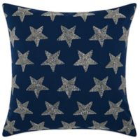 Mina Victory Beaded Stars Indoor/Outdoor Square Throw Pillow In Navy