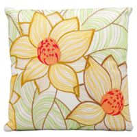 Mina Victory 2 Sunflowers 18-Inch Square Throw Pillow