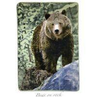 Bear on Rock Oversized Throw
