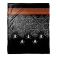 Halloween Spider Trim Throw Blanket