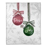 Peace and Joy Ornaments Throw Blanket