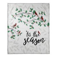 Tis' the Season Throw Blanket in White/Red/Green