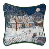 Holiday Night Square Throw Pillow
