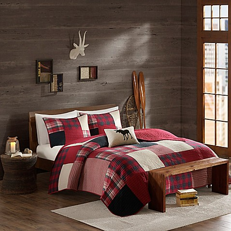 Cedar Ridge Lodge Sunset Quilt In Red Bed Bath Amp Beyond