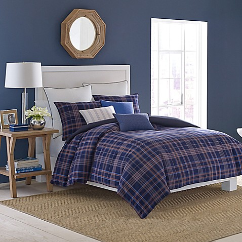 Nautica 174 Eldridge Plaid Comforter Set Bed Bath Amp Beyond