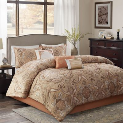 yvette full comforter set in coral