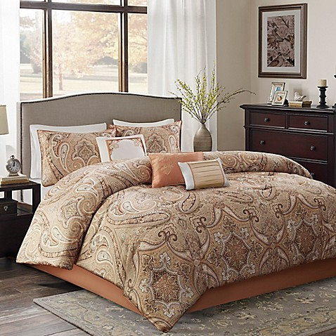 Yvette comforter set in coral bed bath beyond - Bed bath and beyond bedroom furniture ...
