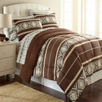 Micro Flannel® Twin Comforter Set in Reindeer Stripe