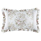 Piper & Wright Haley Floral Oblong Throw Pillow in Blue