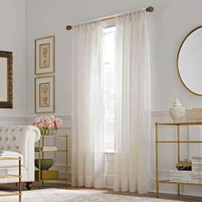 valeron belvedere sheer rod pocket window curtain panel