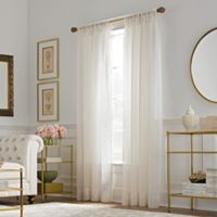 Valeron Belvedere Sheer 63-Inch Rod Pocket Window Curtain Panel in Ivory