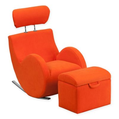 Good Flash Furniture Hercules Kids Fabric Rocking Chair And Ottoman In Orange