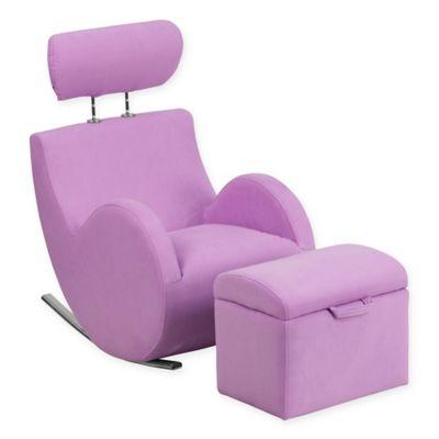 Seating U003e Flash Furniture Hercules Kids Fabric Rocking Chair And Ottoman In  Lavender