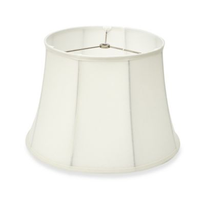 Buy lamp shades from bed bath beyond trimmed linen bell lamp shade in cream aloadofball Image collections