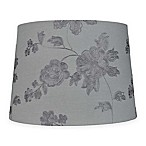 Mix & Match Medium 14-Inch Embroidered Floral Lamp Shade in Grey