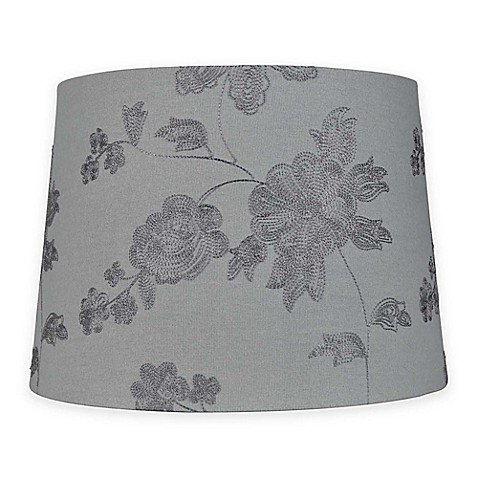 Mix Amp Match Medium 14 Inch Embroidered Floral Lamp Shade