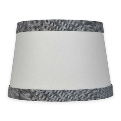 Mix match small 10 inch textured black trim lamp shade in white
