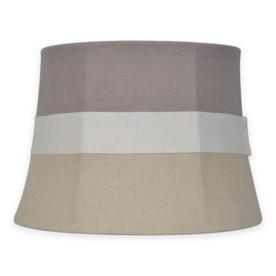 Buy striped lamp shades from bed bath beyond mix match small 10 inch striped fabric lamp shade in neutralgrey aloadofball