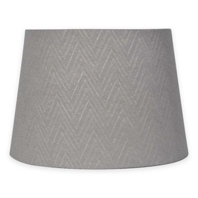 Buy uno lamp shade from bed bath beyond mix match small 10 inch chevron lamp shade in grey aloadofball Choice Image