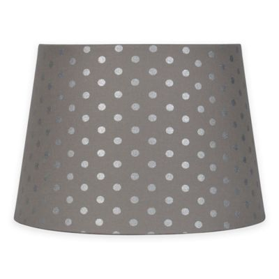 Buy uno lamp shade from bed bath beyond mix match small 10 inch polka dot lamp shade in greysilver aloadofball Images