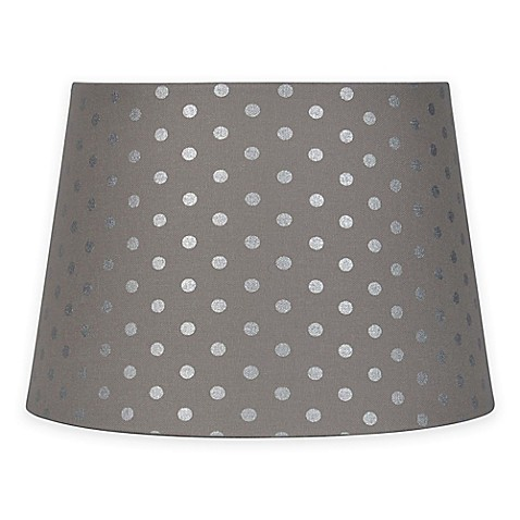 Mix Amp Match Small 10 Inch Polka Dot Lamp Shade In Grey