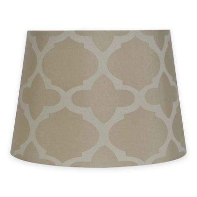 Mix U0026 Match Small 10 Inch Geometric Print Lamp Shade In Tan/Cream
