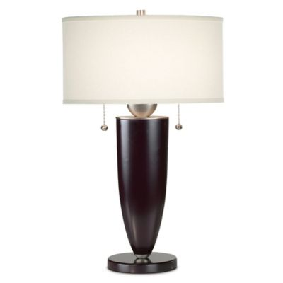 Kathy Ireland Essentials  Deco Table Lamp in Mahogany with Linen Shade. Buy Matching Table Lamps from Bed Bath   Beyond
