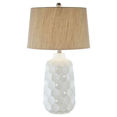 kathy ireland lighting. Pacific Coast Lighting® Kathy Ireland Honeycomb Dreams Ceramic Table Lamp In White Lighting J