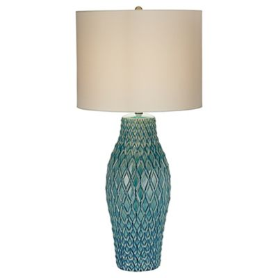 Kathy Ireland Essentials® Nalu Table Lamp in Blue with Linen Drum Shade - Buy Kathy Ireland Table Lamps From Bed Bath & Beyond