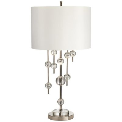 kathy ireland lighting. Kathy Ireland Gallery® New York Mod Table Lamp In Polished Nickel With White Drum Shade Lighting