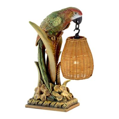 kathy ireland lighting. kathy ireland parrot paradise table lantern with rattan shade lighting