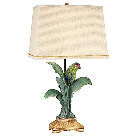 Kathy Ireland Gallery 174 Tropical Parrot Table Lamp Bed